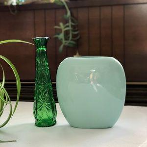 Other - Vintage Pale Green Ceramic Vase 80s